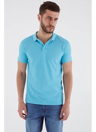 Modaset Polo Yaka Regular Fit T-Shirt Aqua Mavi